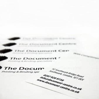 The Document Centre business cards
